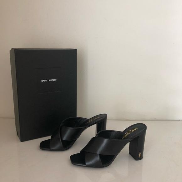 92d6b560e1f Yves Saint Laurent Shoes | Nwt Authentic Ysl Lou Lou Mule Sandals ...